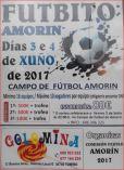 Cartel Campeonato de Futbito de Amorín en Tomiño.
