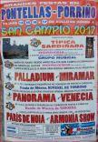Cartel fiestas de Pontellas en Porriño.