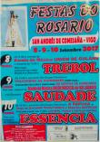 cartel de la fiesta de la virgen del rosario.