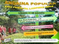 Cartel de la Caminata Popular en Arbo.