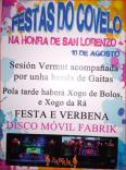 Cartel de fiestas de Covelo.
