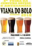 cartel feria de la cerveza artesana en Viana do Bolo