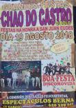 Cartel fiestas en Chao do Castro en O Bolo.
