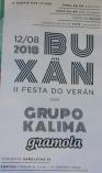 Cartel fiesta de Buxán.
