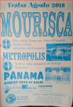Cartel fiestas de Mourisca en Viana do Bolo.