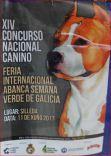 Cartel concurso canino  de Silleda.