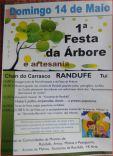 Cartel de la Fiesta del árbol y artesanía de Randufe en Tui