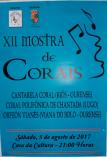 Cartel Muestra de Corales en Viana do Bolo