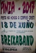 Cartel fiestas de Pinza en Viana do Bolo