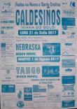 Cartel fiestas de Caldesiños en Viana do Bolo