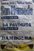 Cartel fiestas de San Mamede en Viana do Bolo