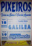 Cartel fiestas de Pixeiros en Viana do Bolo