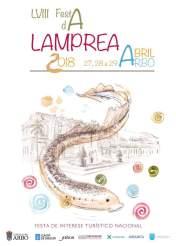 Cartel de la fiesta de la lamprea