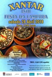 Cartel de la comida de la lamprea