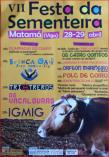 Cartel fiesta de la sementera en Matama Vigo
