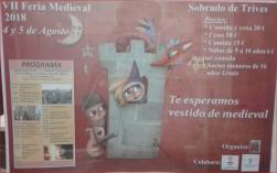 Cartel VII Feria Medieval en Sobrado