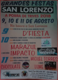 Cartel fiestas de San Lorenzo en Trives