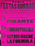 Cartel fiestas Santiago Apóstol en Vilar de Barrio
