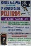 Cartel romeria de la peregrina en Pixeiros.