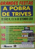 Cartel fiestas de Pobra de Trives.