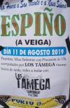 Cartel fiestas de Espiño en A Veiga.