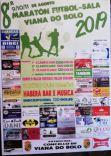 Cartel maratón futbol-sala Viana do Bolo.