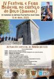 Cartel Festival y Feria Medieval de O Bolo en Ourense.