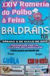 Cartel Romería del pulpo en Tui.