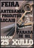 Cartel Feria de Artesanía y Productos Locales de Parada de Sil.